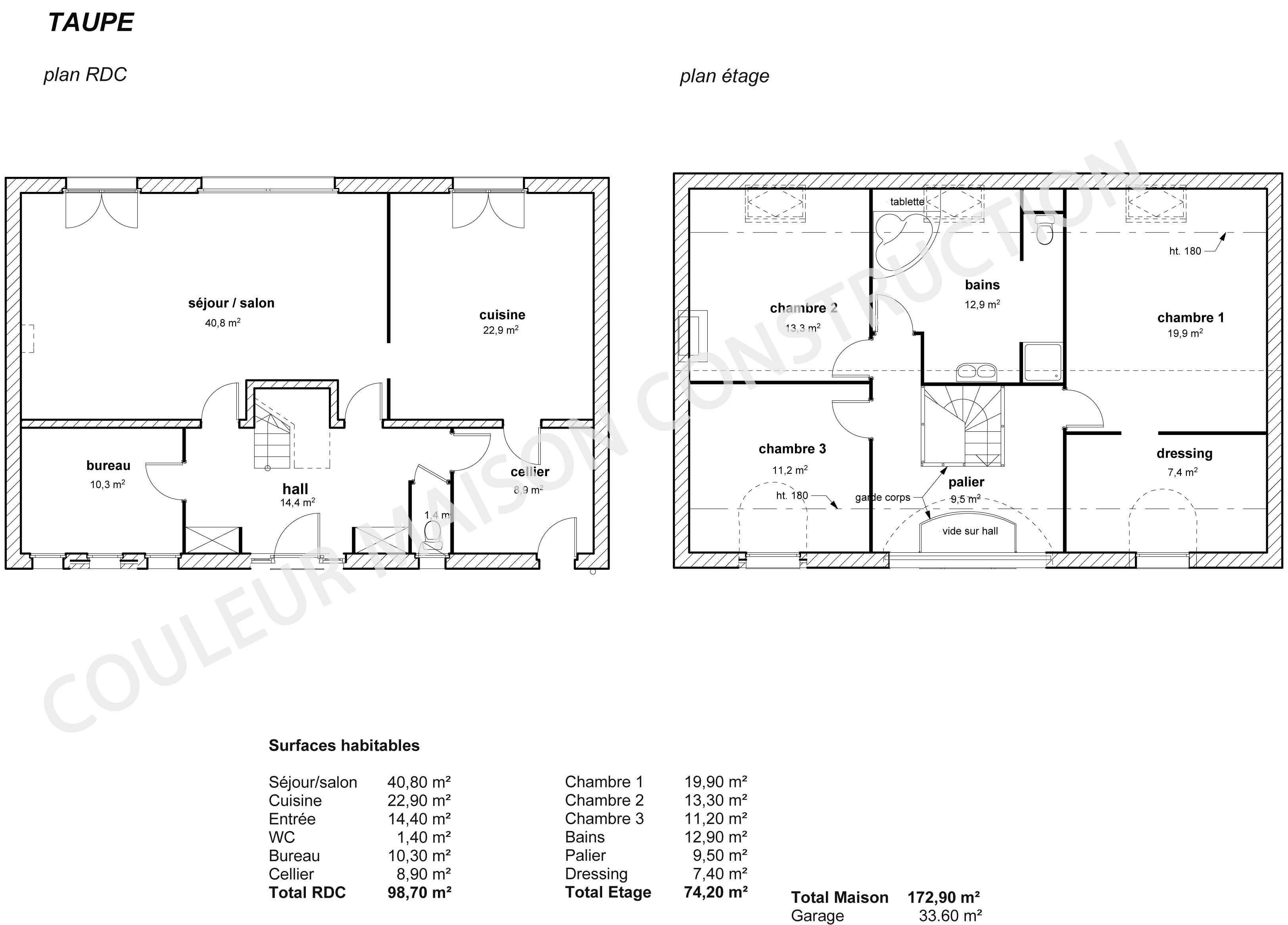 Couleur maison construction le plan de maison de notre for Exemple plan maison