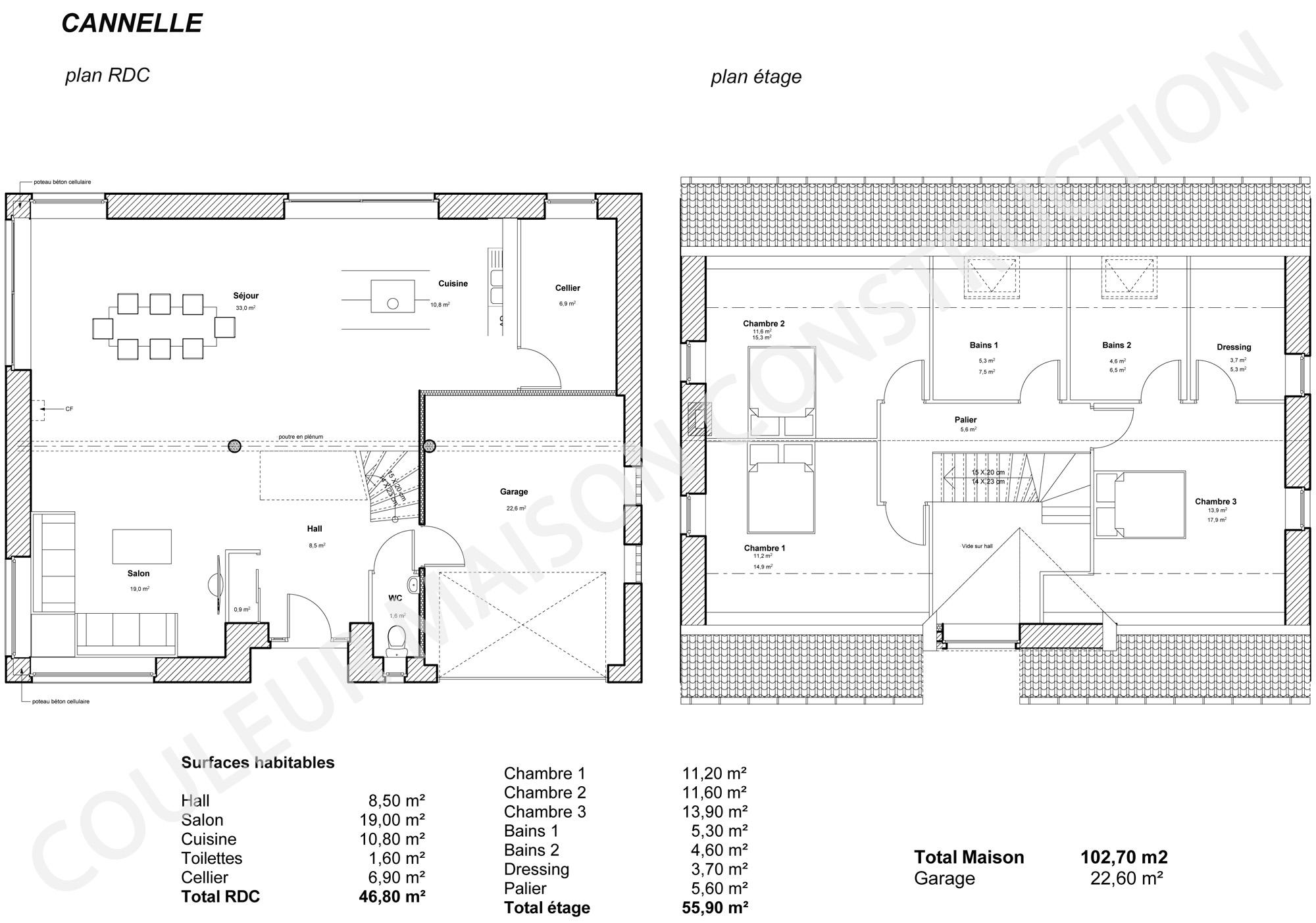 couleur maison construction: le plan de maison de notre modele ... - Exemple De Plan De Construction De Maison Gratuit