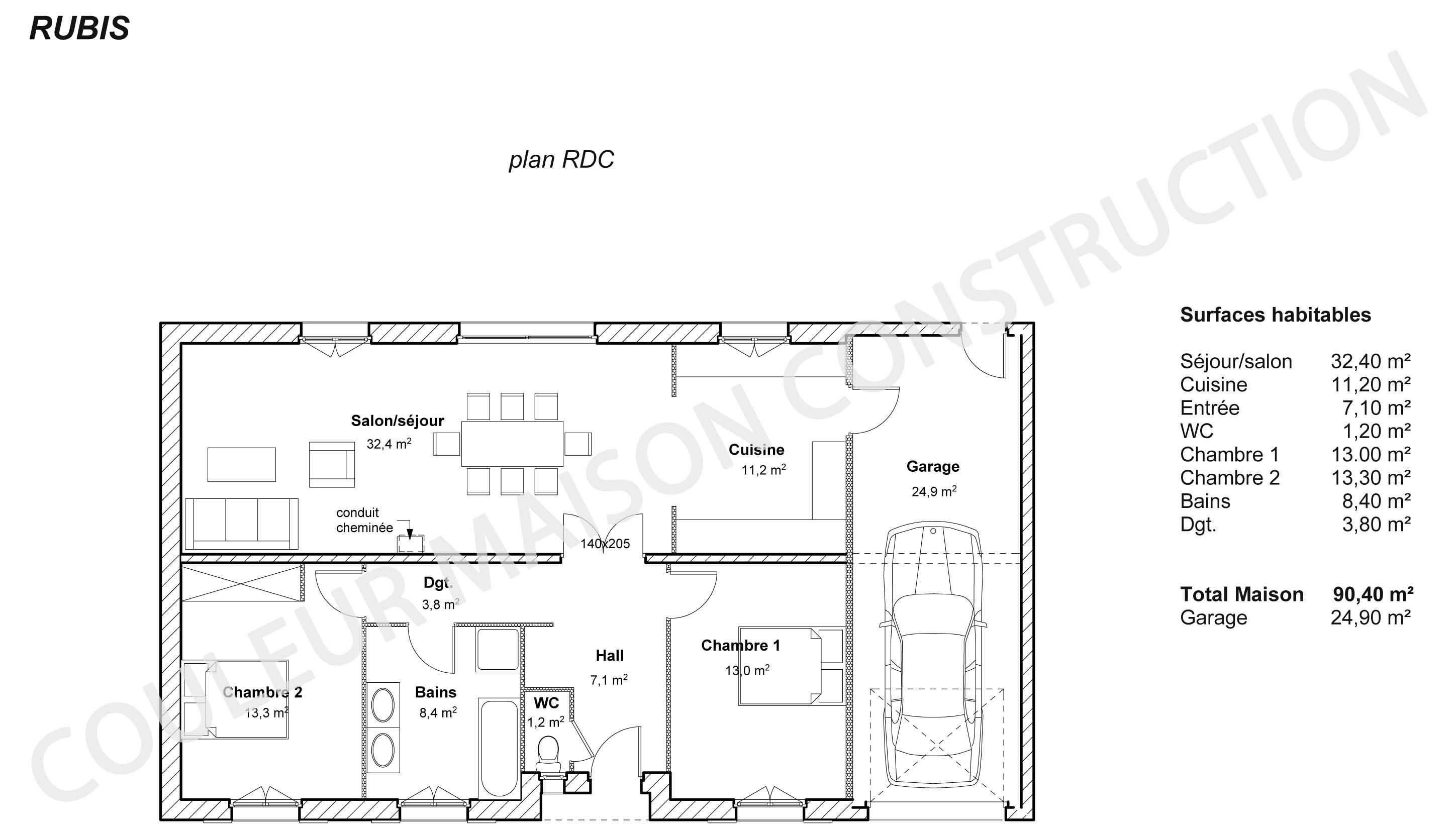 plan de maison à construire